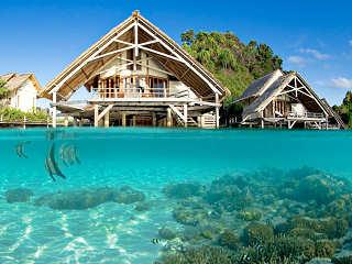 Bungalows im Wasser – Misool Eco Resort, Raja Ampat