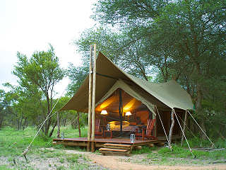 Zelt der Rhino Post Safari Lodge – Südafrika