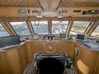 Steuerzentrale des Safariboots