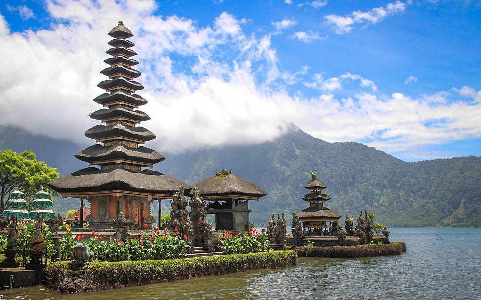 Wassertempel auf Bali, Indonesien