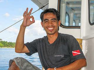 Gute Laune an Bord der Goyo – Safariboot Philippinen