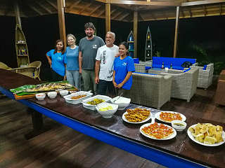Restaurant im Sali Bay Resort in Halmahera