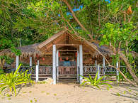 Das offene Restaurant mit Meerblick – Selayar Dive Resort, Süd Sulawesi