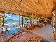 Restaurantbereich des Kuda Laut Boutique Dive Resort