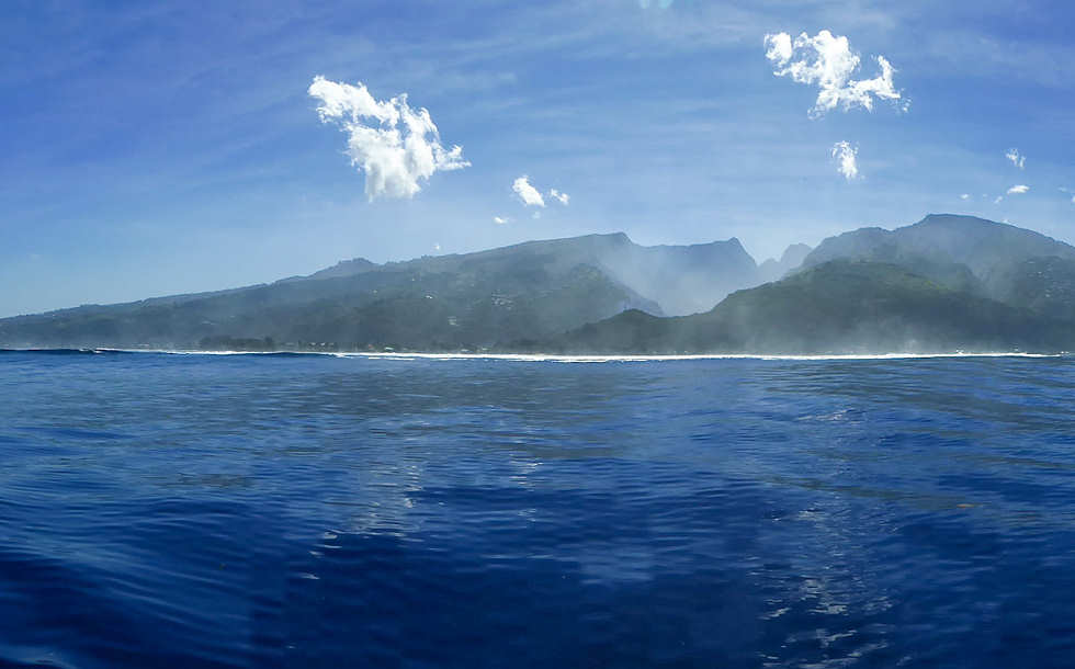 Blick auf Tahiti (Nui) – Französisch Polynesien