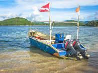 Tauchboot der Tauchbasis Dive Zone Lombok – Indonesioen