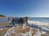 Zodiac klar zum Tauchen !  Tauchbasis Diversity Scuba in Tofo Beach