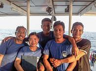 Crew der Raja Ampat Aggressor