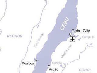 Übersichtskarte Tauchreisen Cebu