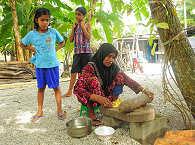 Szenen maledivischen Lebens