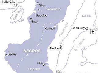Übersichtskarte Tauchreisen Negros