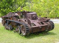 Panzer Wrack auf Palau