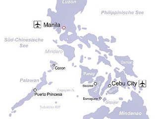 Übersichtskarte Tauchreisen Philippinen