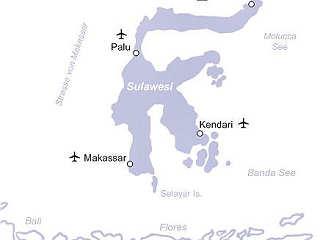 Übersichtskarte Tauchreisen Sulawesi