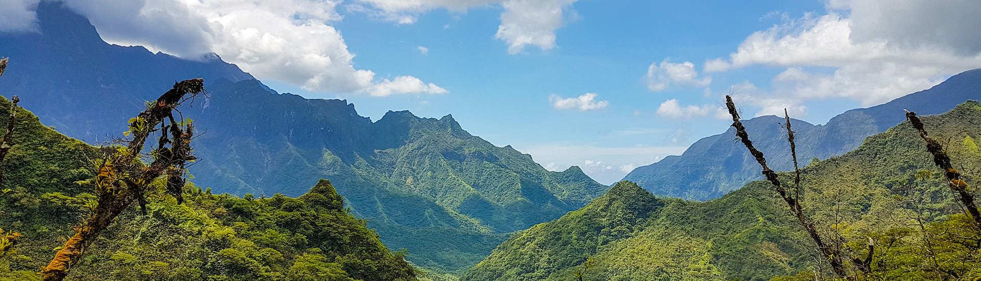 Berge im Inneren der Insel