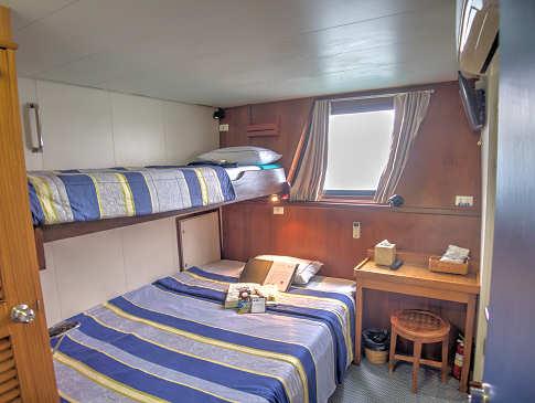 Doppelkabine auf dem Safariboot Raja Ampat Aggressor