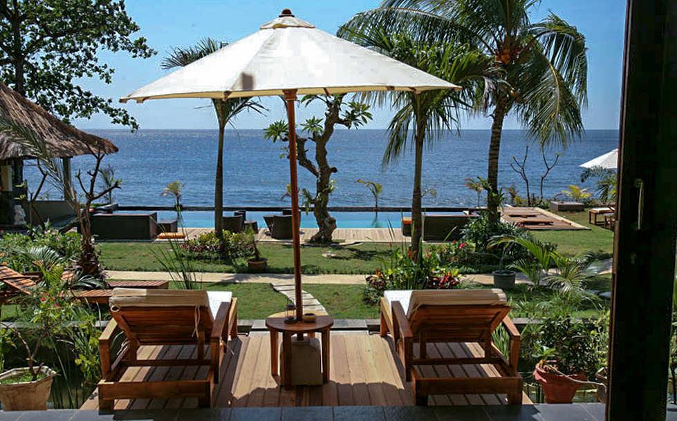 Entspannen mit Blick aufs Meer – Tauch Terminal Tulamben, Bali
