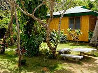 Bambus Cottage im Garten