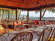 offenes Restaurant der Tompotika Dive Lodge, Sulawesi