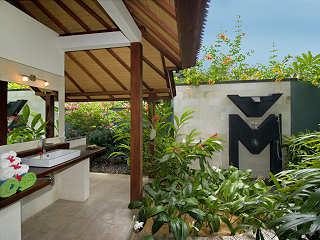 Badezimmer im Bali Stil