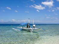 Tauchboot der White Beach Divers – Malapascua, Philippinen